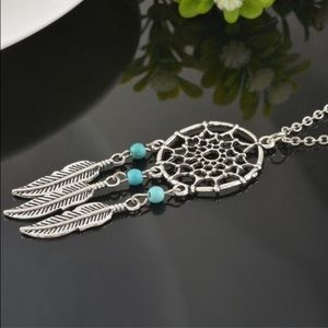 Jewelry - Boho Dream Catcher Necklace with Feathers